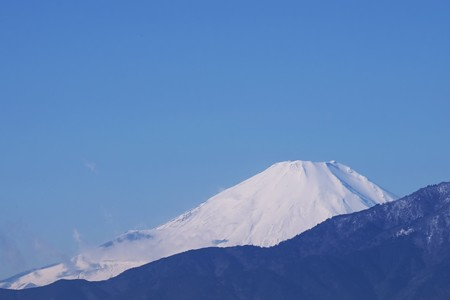 2017.01.12 駅前 富士山