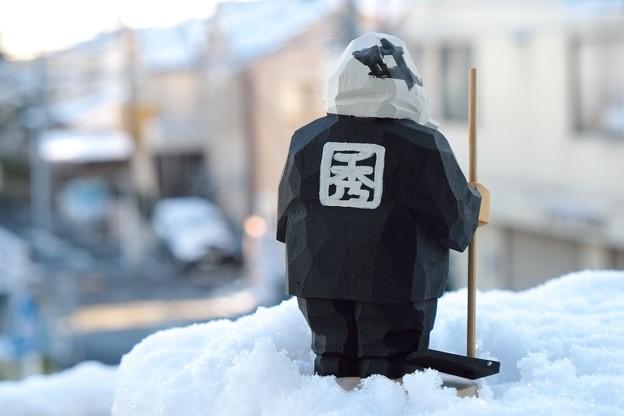 2017.02.11 居間 雪景色の街