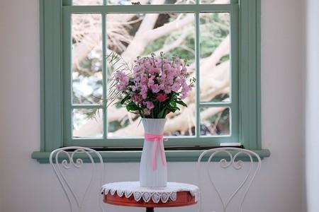2017.02.17 ブラフ18番館 窓辺に花