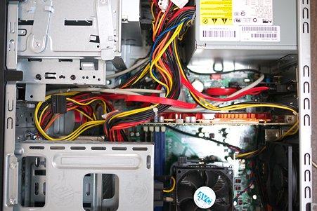 2010.09.29 机 PC掃除+LANカード・SATA外出しコネクタ追加