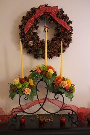2010.12.08 山手 ブラフ18番館 世界のクリスマス2010 ベルギー 暖炉の飾