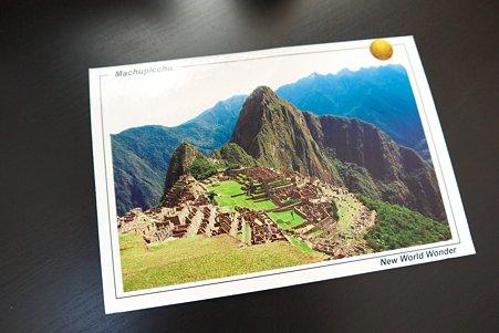 2011.05.15 机 Machu Picchuからの葉書