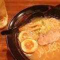 "Photos: ""BUSHI道らーめん(醤油)"" に、""熟成とろ玉""トッピングなう♪ q(^-^q) ..."