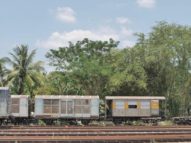 CG.151532? + BV.15089、Thung Song Junction、タイ国鉄