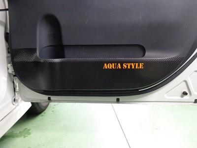 タント ドアパネル傷防止シート AQUASTYLEロゴ 運転席側
