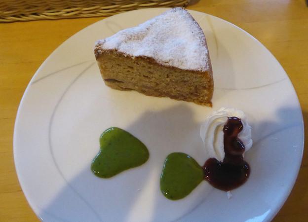 嵐山の喫茶店のマロンシフォン