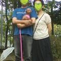 写真: 小枝家族