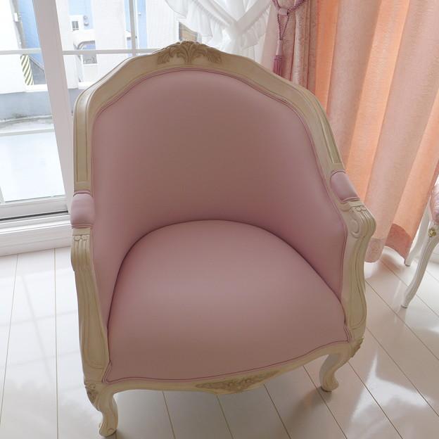 プリンセススタイル ロココ猫脚1Pソファ