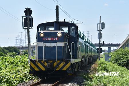 662レ SD55 105+タキ