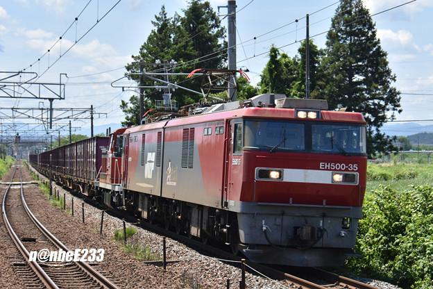 1657レ EH500-35+DE10 3510+コキ
