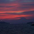 Photos: 茜色に染まる空と富士山!(20100911)