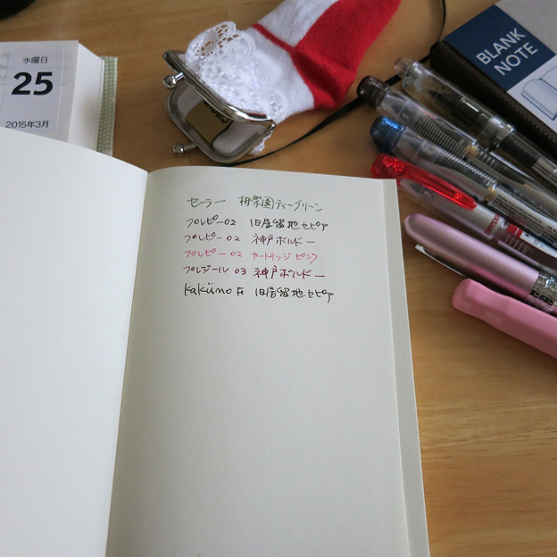 SeriaのA6無地ノートに書いてみた