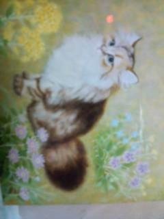 猫のレオちゃんの絵です。