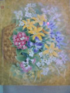 花籠の絵です。
