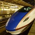 初のW7系W6編成♪ かがやき530号遅れて東京23番到着!
