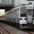 水戸線415系K528編成761M 結城1番停車