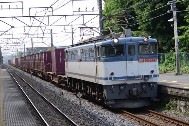 Photos: EF65 2087牽引3083レ石橋通過