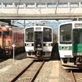 719系東北色・磐越西線色とキハ47国鉄急行色の並び