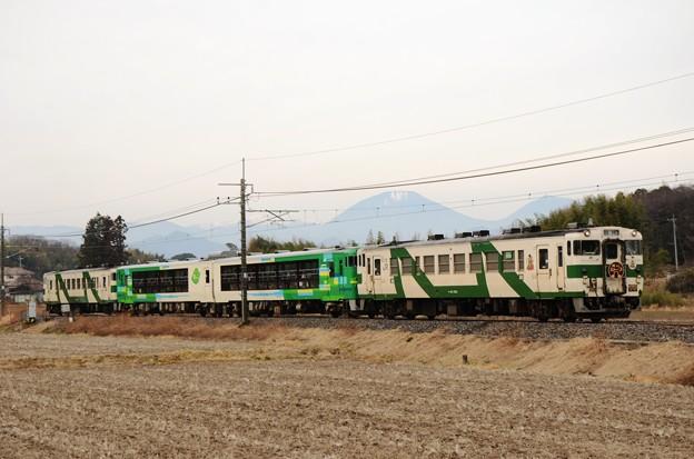 Photos: 風っこストーブ日光号と男体山