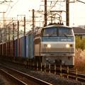 夕陽の石橋~宇都宮貨物(タ)を行くEF66 122牽引高速貨物4093レ