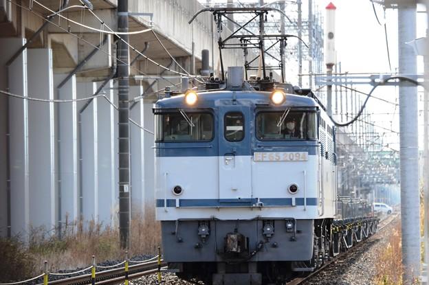 Photos: EF65白プレート2094号機牽引配8593レ