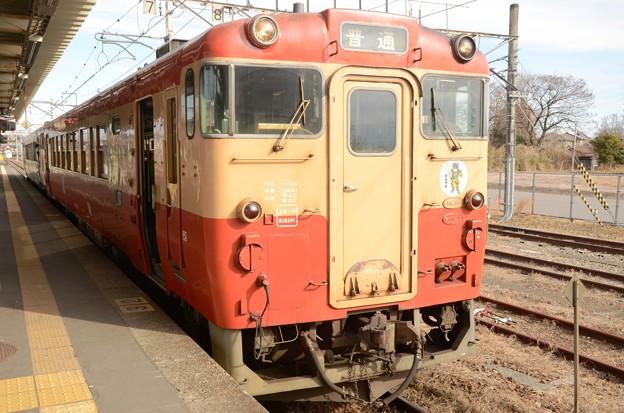 Photos: 烏山線キハ40一般形標準色328D宝積寺3番停車