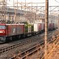 金太郎32号機牽引高速貨物3050レ宇都宮貨物(タ)3番入線