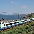 日本海を横目に