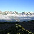 100722-55蝶ヶ岳登山・穂高連峰と槍ヶ岳