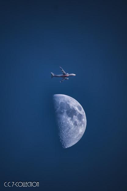 写真: Moon flight