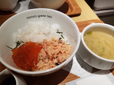 nana's green tea「いくらと鮭の親子どんぶり」