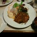 写真: 念願のハンバーグ!!!