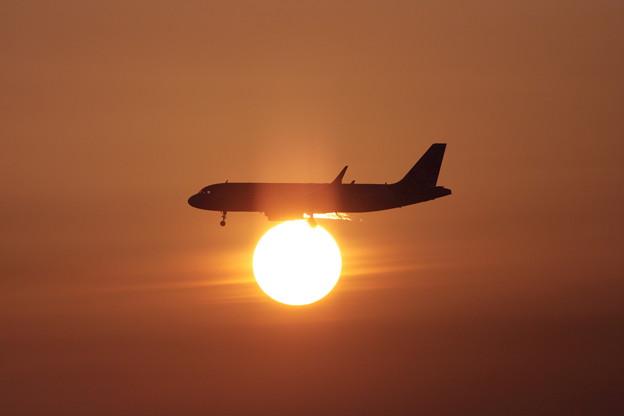 A320 Sun set