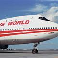 写真: B747-257B N303TW TWA CTS 1989夏