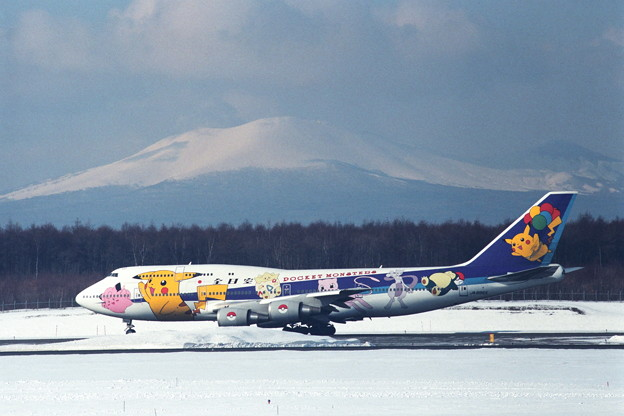 B747-481D JA8965 Pocket Monster 1999冬(1)