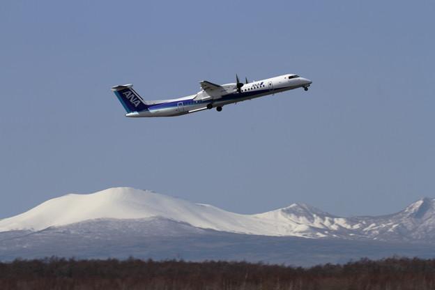Q400 JA844A takeoff