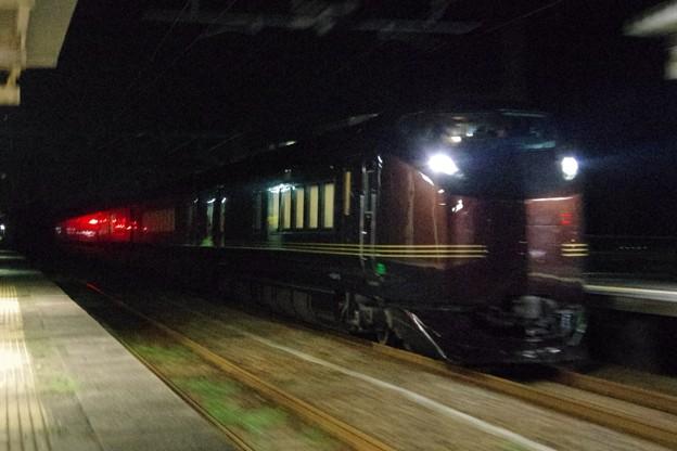 """E655系""""和(なごみ)"""" ※TR車(E655-1)込み 酒田運輸区ハンドル訓練返却回送"""