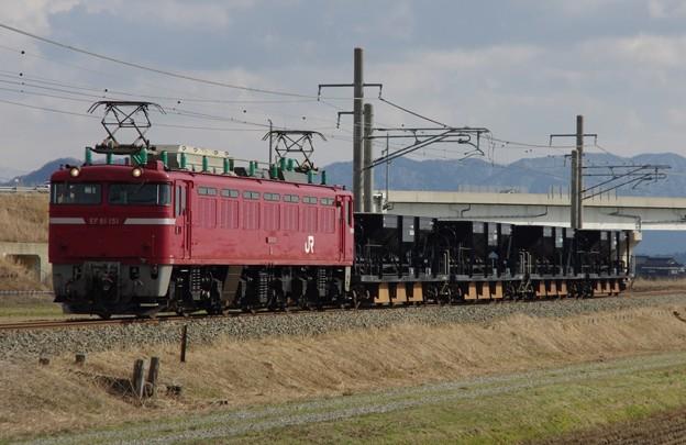 EF81 151+ホキ4B 酒田工臨(バラスト)