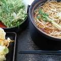 Photos: 1208牡蠣と蓮根のかき揚げ蕎麦&春菊天@ゆで太郎
