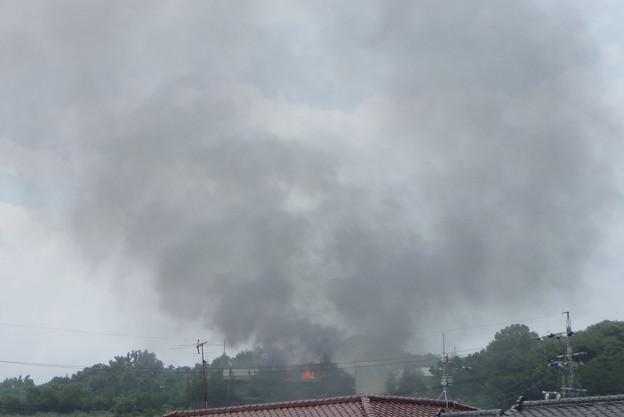 写真: 蟻ヶ崎の火事