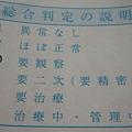 Photos: 総合判定は「要観察」?2010.10健康診断