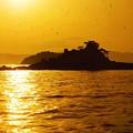 Photos: 瀬戸の夕陽~背景は中国山地~