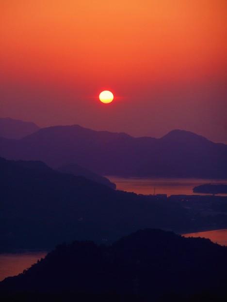しまなみ海道 立冬の夕景 in 高見山山頂展望台