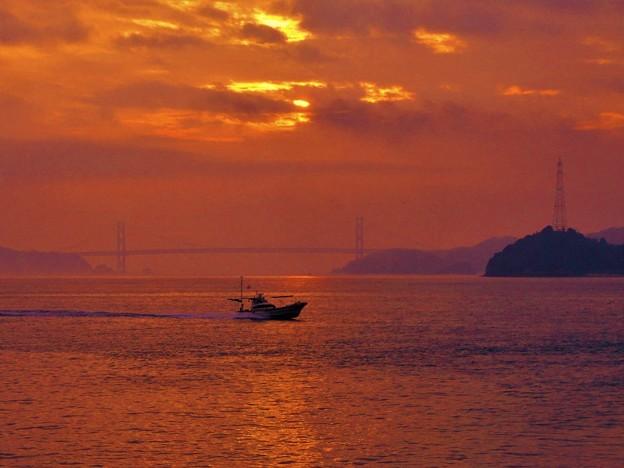 正月二日 豊饒の海 布刈瀬戸の夜明け