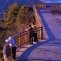 快晴の日曜日の 午後の展望デッキ in 高見山