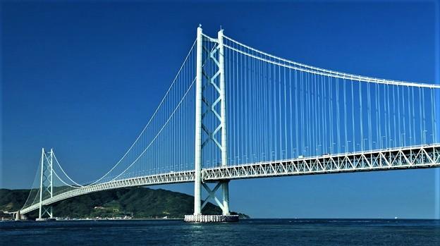 明石海峡大橋(いただきものの壁紙を加工)