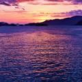 写真: 大晦日の瀬戸の夕暮れ