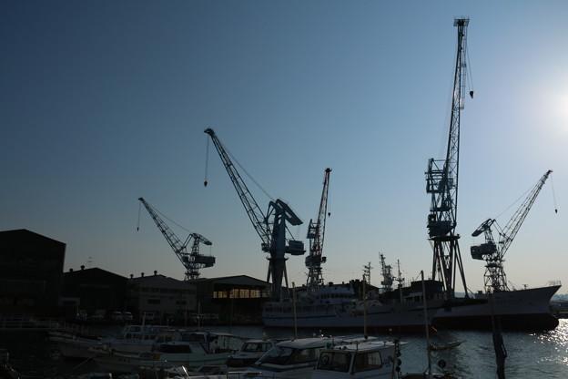 造船所のクレーン
