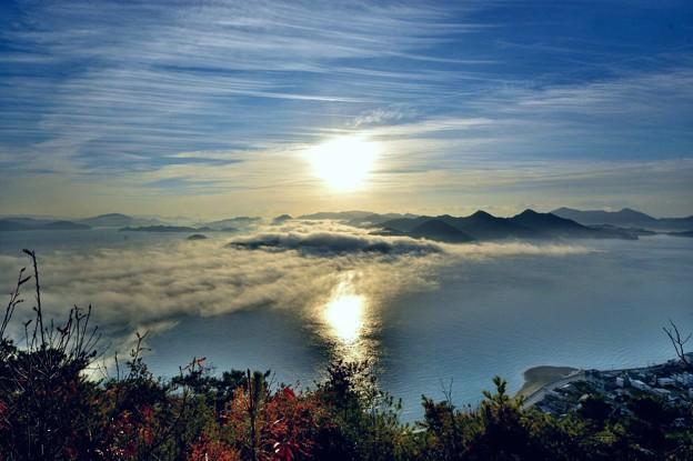 三原市筆影山 海霧