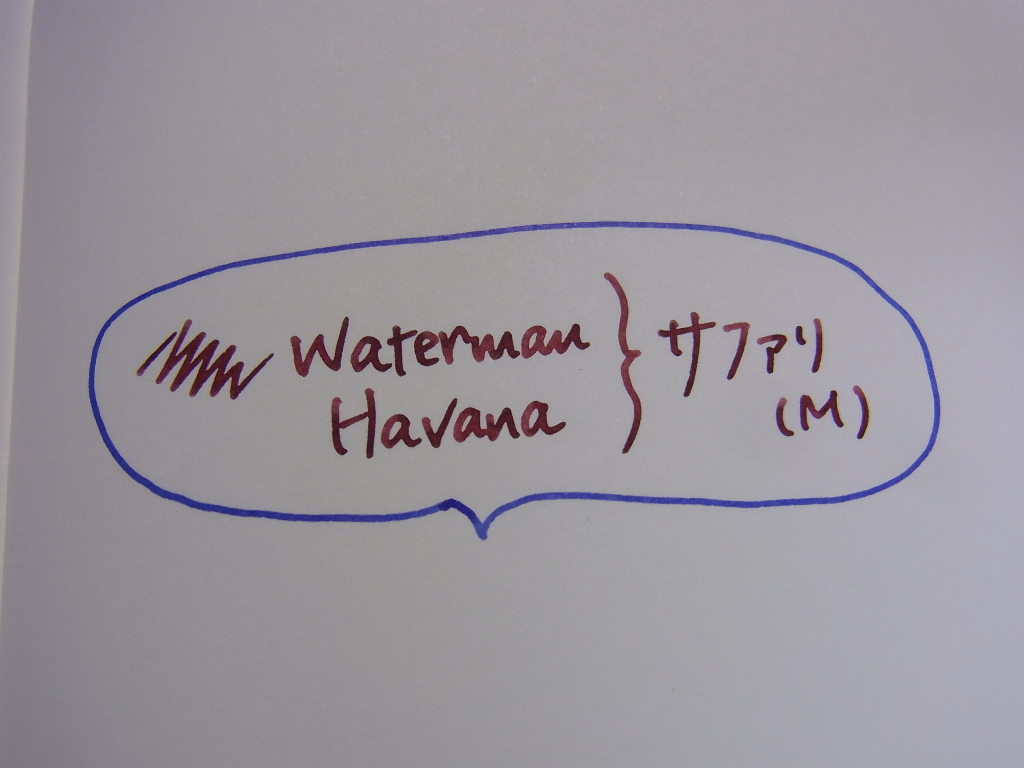 Waterman Havana handwriting 1